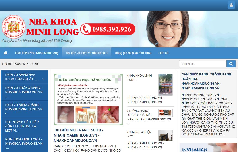 Thiết kế web Nha Khoa Hải Dương